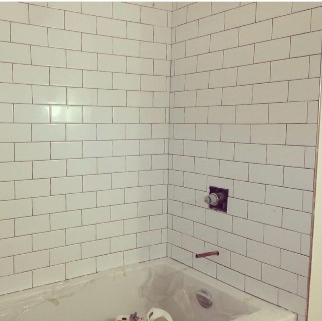 North York Bathroom Remodel - PROGRESS PHOTO